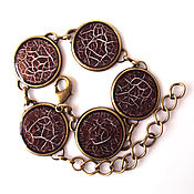 Украшения handmade. Livemaster - original item Bracelet Cobweb brown. Handmade.