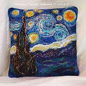 """Для дома и интерьера ручной работы. Ярмарка Мастеров - ручная работа Интерьерная подушка """"Звёздная ночь"""". Handmade."""