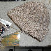 Аксессуары ручной работы. Ярмарка Мастеров - ручная работа Вязаная шапка Монвизо, 75% шелк, 25% хлопок Seta Tweed. Handmade.