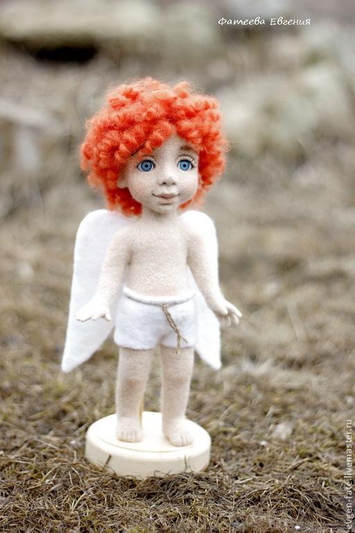 Человечки ручной работы. Ярмарка Мастеров - ручная работа. Купить Весенний ангел. Handmade. Рыжий, кукла интерьерная