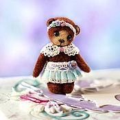 """Куклы и игрушки ручной работы. Ярмарка Мастеров - ручная работа Микро-мишка """"Милана"""" (3,6см). Handmade."""