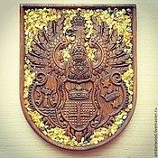 Картины и панно handmade. Livemaster - original item The coat of arms of königsberg Amber. Handmade.