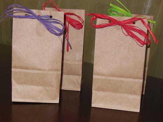 Упаковка ручной работы. Ярмарка Мастеров - ручная работа. Купить Подарочный крафт-пакет. Handmade. Коричневый, упаковка, подарочная упаковка