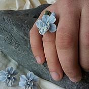 """Украшения ручной работы. Ярмарка Мастеров - ручная работа комплект  """" нежные орхидеи"""" фарфор. Handmade."""