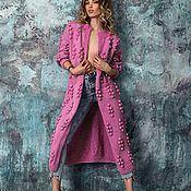 """Одежда ручной работы. Ярмарка Мастеров - ручная работа Вязаный кардиган """"Виноградная лоза"""" ручной работы. Вязаное пальто. Handmade."""