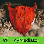 Музыкальные инструменты handmade. Livemaster - original item The mediator from wood wood padauk Demonoid. Handmade.