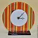 """Часы для дома ручной работы. Ярмарка Мастеров - ручная работа. Купить часы настольные """"Раз полоска,два полоска"""". Handmade."""