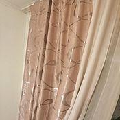 Для дома и интерьера handmade. Livemaster - original item blackout curtains beige monogram combination. Handmade.