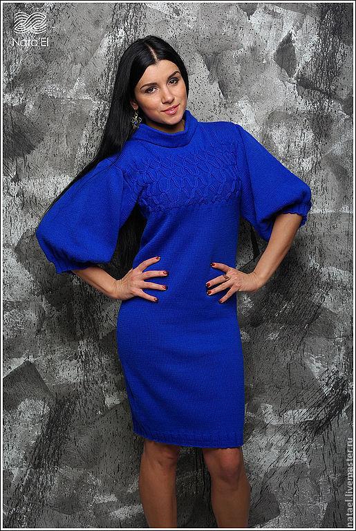 """Платья ручной работы. Ярмарка Мастеров - ручная работа. Купить Платье """"Синий ангел"""". Handmade. Тёмно-синий, авторское платье"""