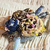 Украшения handmade. Livemaster - original item Textile brooch pin Theory of Miracle (in a gift box). Handmade.