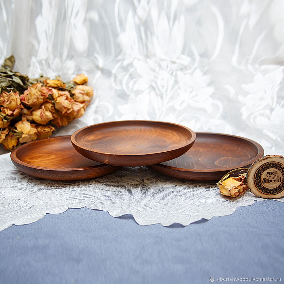 Tableware - Plates, wooden, 19,5 cm (3#38, Plates, Novokuznetsk,  Фото №1