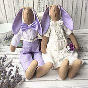 Зайцы свадебные тильда, подарок молодоженам, свадебное украшение