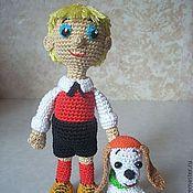 Куклы и игрушки ручной работы. Ярмарка Мастеров - ручная работа Карлсон и компания.Малыш и щенок Бимбо.Кукла-мальчик вязаная игровая. Handmade.