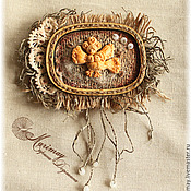 """Украшения ручной работы. Ярмарка Мастеров - ручная работа Бохо брошь  """"О чём поёт птица Сирин, сидя на ветке в каплях дождя"""":). Handmade."""