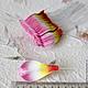 Лепестки розово-оранжевые загнутые My Thai Материалы для флористики из Таиланда