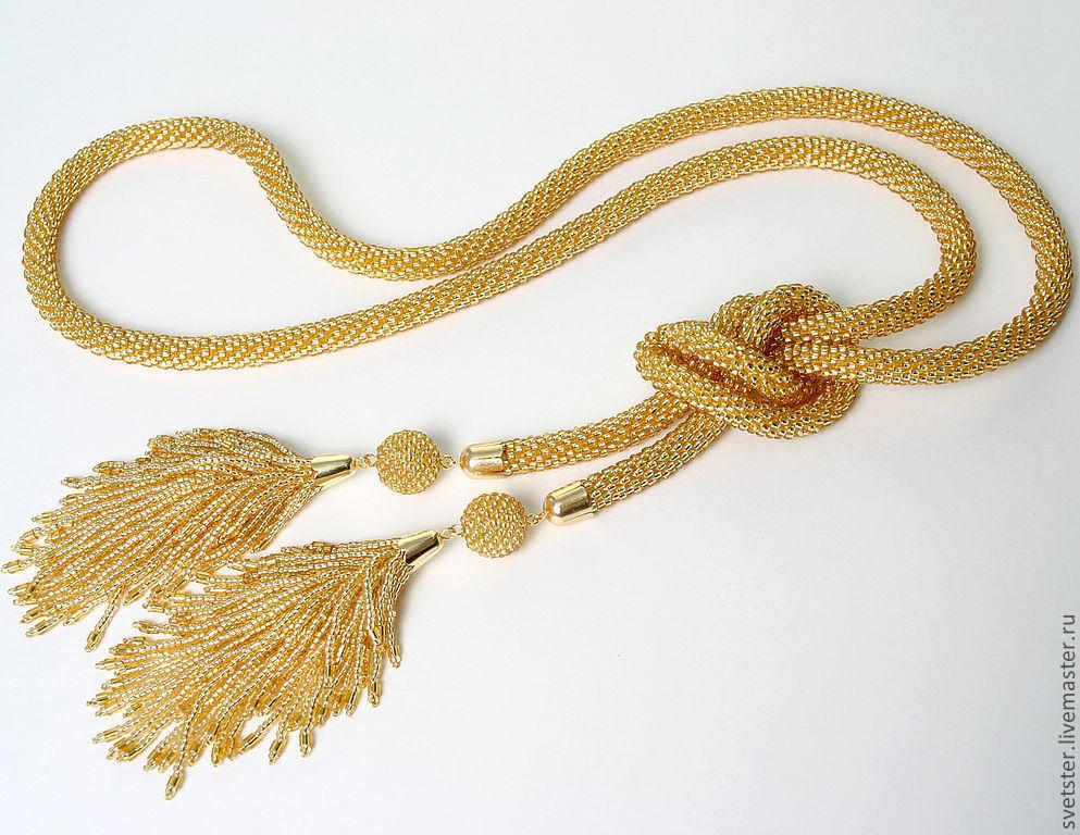 Lariat gold tassel-tails, Lariats, Samara,  Фото №1