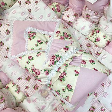 Текстиль ручной работы. Ярмарка Мастеров - ручная работа Конверт одеяло лоскутное для новорожденного на выписку. Handmade.
