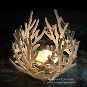 Для дома и интерьера handmade. Livemaster - original item White openwork candlestick