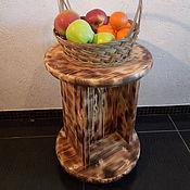Для дома и интерьера ручной работы. Ярмарка Мастеров - ручная работа Журнальный столик из обожженного дерева. Handmade.
