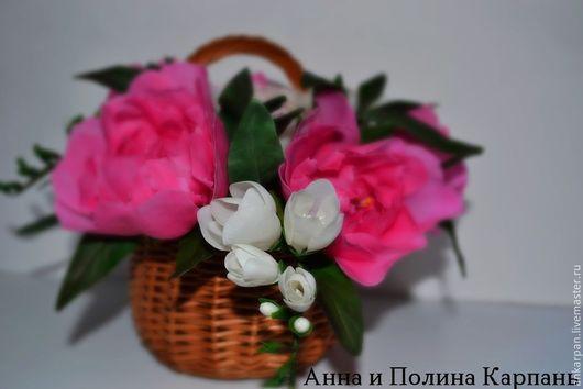 """Цветы ручной работы. Ярмарка Мастеров - ручная работа. Купить """"Семейная Гармония"""". Handmade. Розовый, фрезии, подарок девушке"""