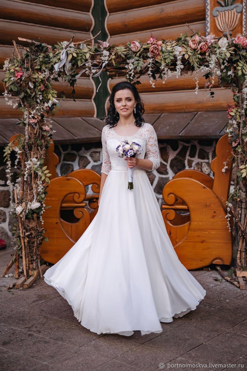 Греческое,прямое свадебное платье, Платья, Москва,  Фото №1
