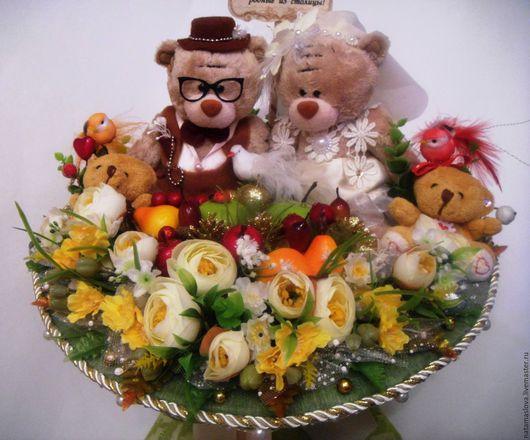 Букет из игрушек Мишки Тедди Осенняя свадьба