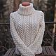 """Кофты и свитера ручной работы. Ярмарка Мастеров - ручная работа. Купить свитер """"Зимний"""". Handmade. Белый, свитер женский"""