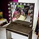 Зеркала ручной работы. Ярмарка Мастеров - ручная работа. Купить Гримерное зеркало со столом. Handmade. Зеркало, мэйкап, визаж