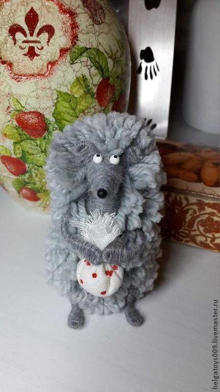 Куклы и игрушки ручной работы. Ярмарка Мастеров - ручная работа. Купить Ежик в тумане. Handmade. Серый, ежи, подарок девушке