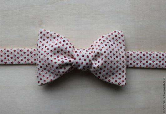 """Галстуки, бабочки ручной работы. Ярмарка Мастеров - ручная работа. Купить галстук-бабочка """"Модный Жук"""". Handmade. Белый"""