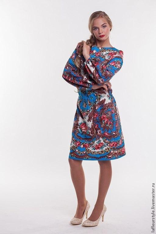 Платья ручной работы. Ярмарка Мастеров - ручная работа. Купить Платье из платков 2. Handmade. Платье, павловопосадский платок