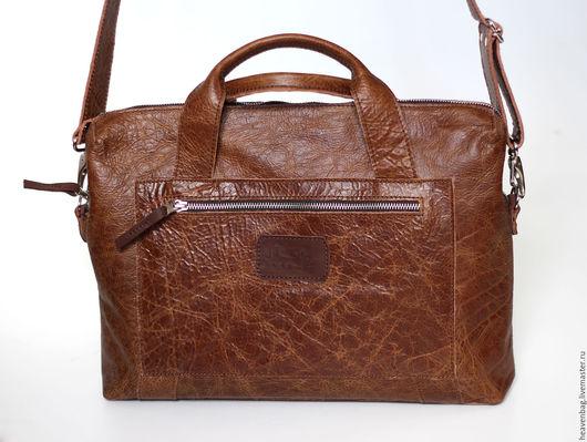 Мужские сумки ручной работы. Ярмарка Мастеров - ручная работа. Купить Юкка. Handmade. Коричневый, сумка на каждый день