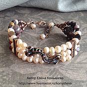 Украшения handmade. Livemaster - original item Bracelet three-piece, Flirty.. Handmade.
