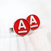 Украшения ручной работы. Ярмарка Мастеров - ручная работа Запонки из серебра с логотипом компании. Handmade.
