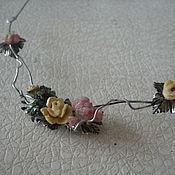Серебряное колье Розы