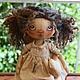 """Куклы тыквоголовки ручной работы. Ярмарка Мастеров - ручная работа. Купить Текстильная кукла """"Мамина помощница"""". Handmade."""