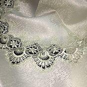 Для дома и интерьера handmade. Livemaster - original item Oval tablecloth-pistachio with lace. Handmade.