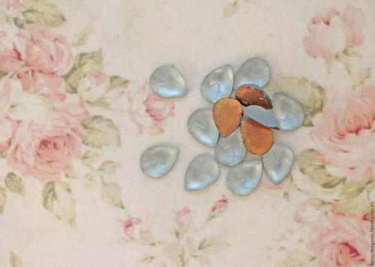 Для украшений ручной работы. Ярмарка Мастеров - ручная работа. Купить Кабошоны винтаж 15х11 мм. цвет серо-голубой. Handmade.