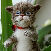Куклы и игрушки ручной работы. Ярмарка Мастеров - ручная работа котенок Ник-игрушка из шерсти. Handmade.