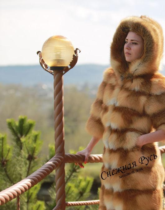 Верхняя одежда ручной работы. Ярмарка Мастеров - ручная работа. Купить Шуба из меха лисы. Handmade. Рыжий, меха