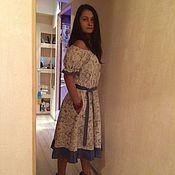 Одежда ручной работы. Ярмарка Мастеров - ручная работа Платье льняное Бухара. Handmade.