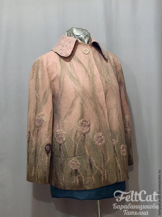 """Пиджаки, жакеты ручной работы. Ярмарка Мастеров - ручная работа. Купить Жакет """"Променад"""" войлок. Handmade. Кремовый"""