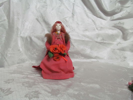 Коллекционные куклы ручной работы. Ярмарка Мастеров - ручная работа. Купить ожидание. Handmade. Коралловый, бисер, синтепон, акриловые краски