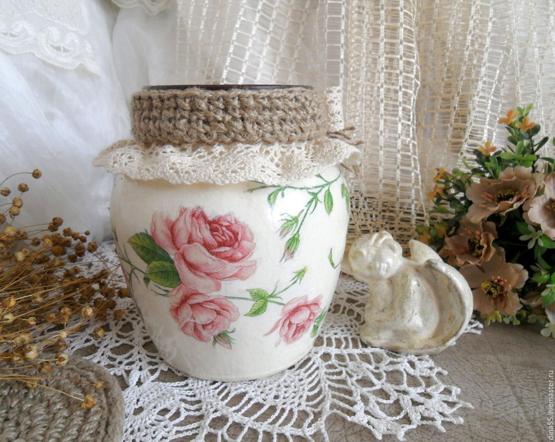 Ваза для цветов Розовые розы