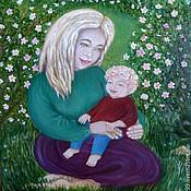 Картины и панно ручной работы. Ярмарка Мастеров - ручная работа Когда улыбаются дети, расцветают волшебные цветы.. Handmade.
