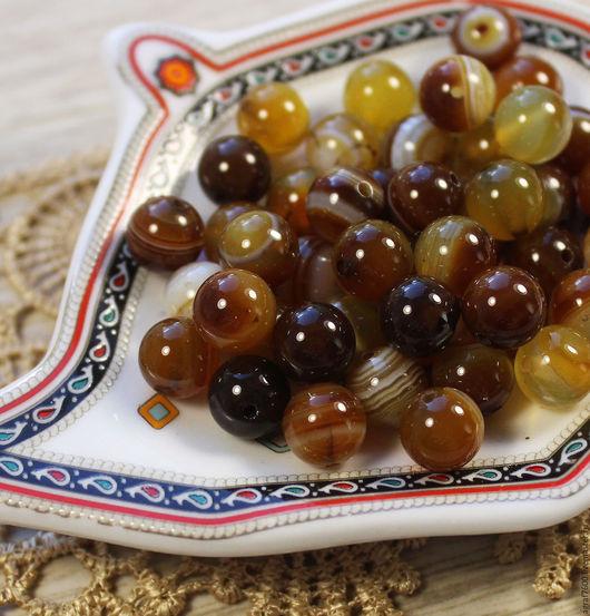 Для украшений ручной работы. Ярмарка Мастеров - ручная работа. Купить Агат коричневый бусины 8 мм шар. Handmade.