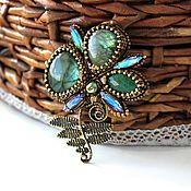 Украшения handmade. Livemaster - original item Flower brooch fern. Handmade.