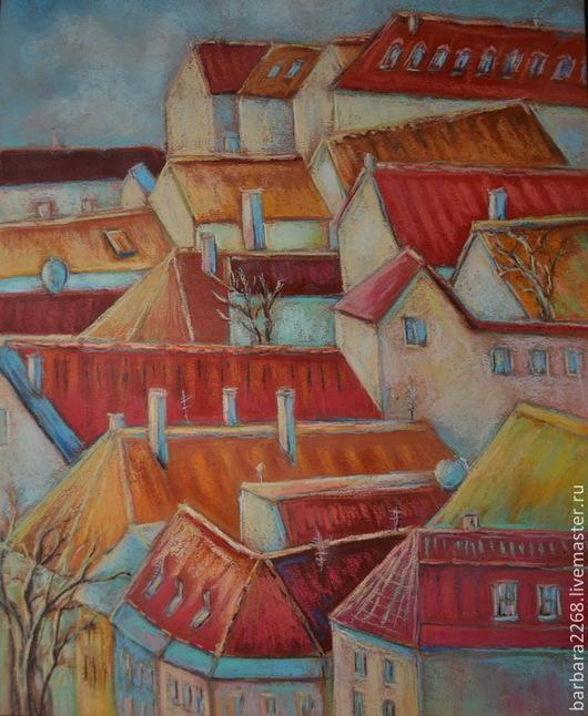 Никакая другая европейская столица не выглядит так сказочно, как Прага. Очень красивая работа, пастелью, оформленная в раму под стеклом, отличный подарок себе или знакомым. Подойдет и в дом и в офис.