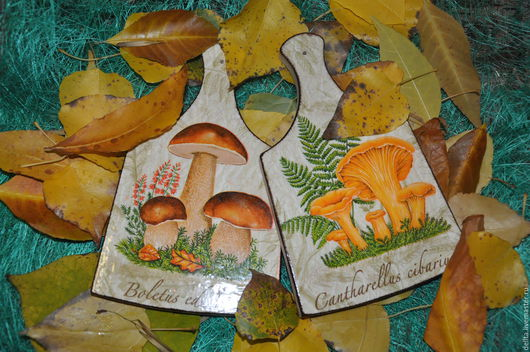 Кухня ручной работы. Ярмарка Мастеров - ручная работа. Купить по грибы. Handmade. Оранжевый, декор для интерьера, доска разделочная