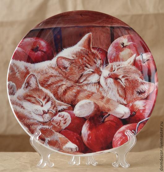 """Тарелки ручной работы. Ярмарка Мастеров - ручная работа. Купить Тарелка декоративная """"Рыжики"""". Handmade. Рыжий, котята, рыжий котенок"""